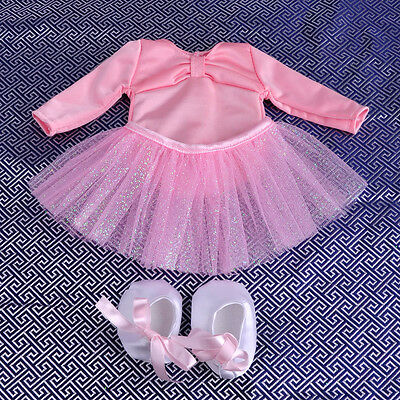 Hot 1 set Pink Doll Clothes for 18'' American Girl Fashion Pink Ballet dress