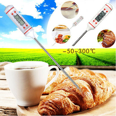 Digital Thermometer BBQ Cooking Meat Hot Water Measure Probe Kitchen Food Tool