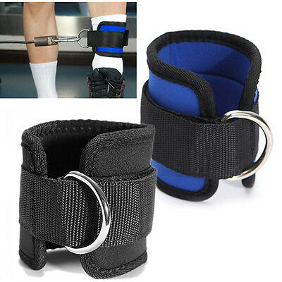 Ankle Strap D-ring Thigh Leg Pulley Gym Weight Lifting Fitness Cable Attachment