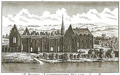 The Ruins of Lostwithiel Palace, Cornwall - Seat of the Earls of Cornwall c1785