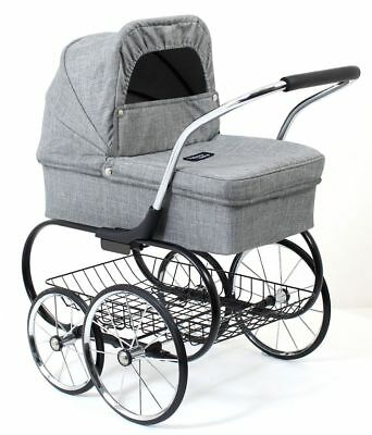 Just Like Mum Royale Doll Stroller (Grey Marle) - Valco Baby Free Shipping!
