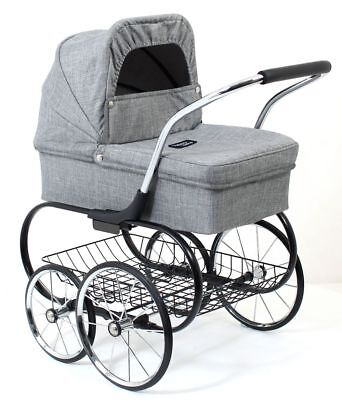 Valco Baby Just Like Mum Royale Doll Stroller (Grey Marle)