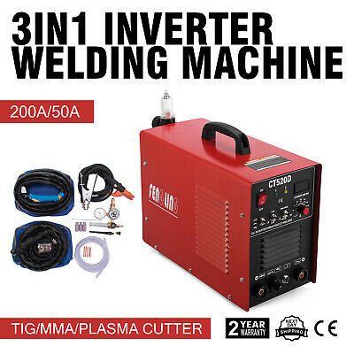 3In1 Plasma Cutter Ct520D 50A/200A Tig Mma Welder Great 110V Widely Trusted