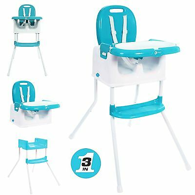 New My Child Graze 3 In 1 Reclining Baby Highchair Toddler Booster Seat Aqua