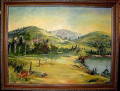 Kerry Nobbs Large Lovely Original Oil Painting.