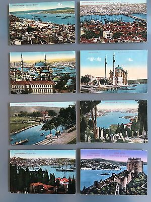 Turkey Constantinople Colored Eight Old Postcards