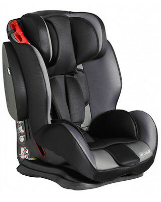 New My Child Jet Stream Group 123 Car Seat Childs Carseat Booster Black Grey