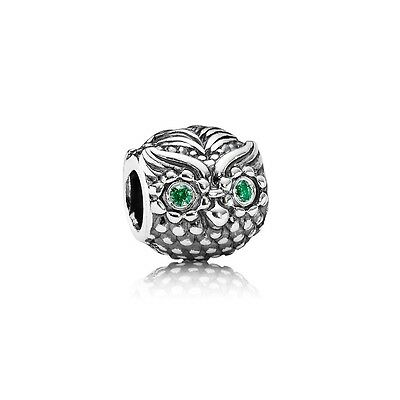 Authentic Pandora Charm Sterling Silver 791211CZN Wise Owl