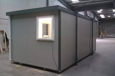New 20ft Portable Mobile Building Site Cabin Office UPVC windows