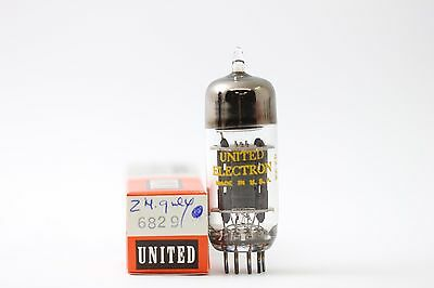 6829 Tube. United Electron Brand Tube. 2 Mica Grey Plate. Nos / Nib.  Rc53