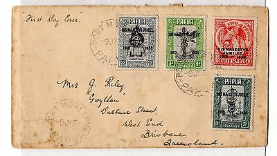 Papua KGV 1935 Silver Jubilee FDC To Brisbane Port Moresby CDS X6190