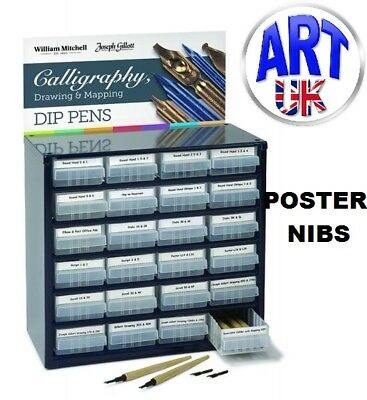 William Mitchell Calligraphy POSTER PEN NIBS writing draw italic sketch dip ink