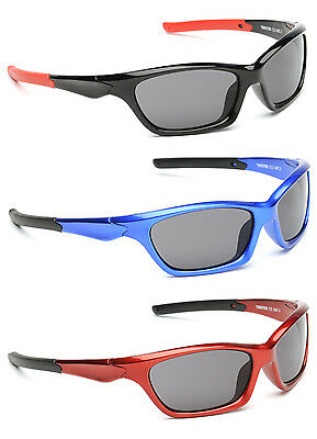 Kids Boys Girls Childrens Dark Retro Sunglasses Cool Ski Sports Red Blue Black
