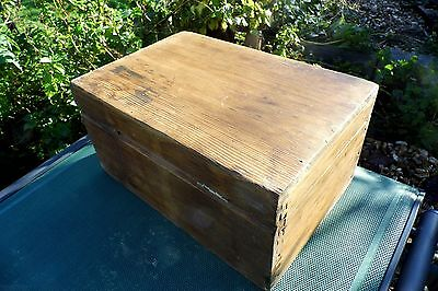 Victorian Sailors Ditty Box pine antique shabby chic 19th century