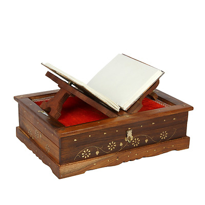 Mothers Day Gifts Icrafts Regal Wooden Folding Quran Bible Holy Book Reading Sta