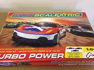 Scalextric Turbo Power Micro Set Comes With 3 Cars Boxed