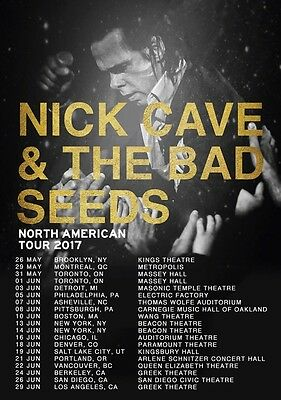 NICK CAVE & THE BAD SEEDS North American 2017 Tour Foto POSTER Skeleton 8