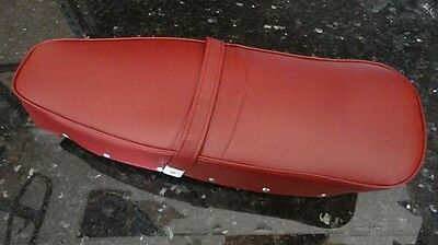 Lambretta complete long RED seat saddle  LI TV GP SX DL