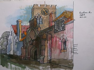 COLOURED GRAPHITE DRAWING by FREDERICK GEORGE WILLS 1901-1993 R.I. OXFORD
