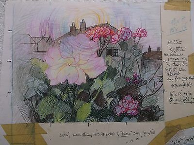 COLOURED GRAPHITE DRAWING by FREDERICK GEORGE WILLS 1901-1993 R.I. OUNDLE