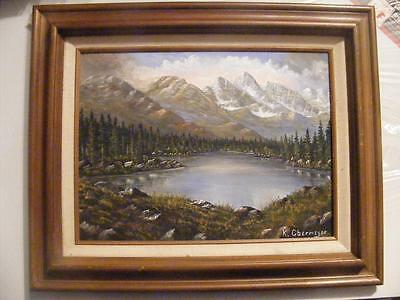 12 x 16 Painting ROCKY MOUNTAIN High Country landscape Acrylic on Canvas Art