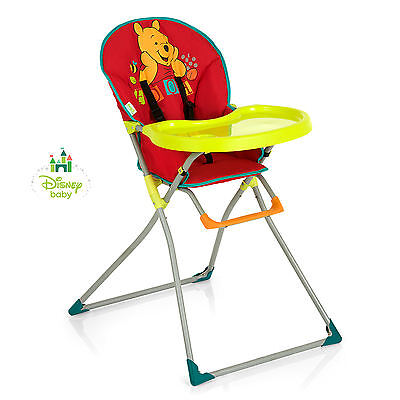 New Hauck Disney Mac Baby Highchair Compact Folding Feeding Chair V Pooh Red