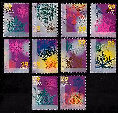 Netherlands STAMPS Christmas 2006 Series  x 10 PCS