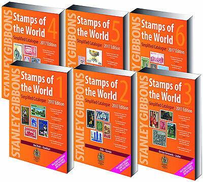 Stanley Gibbons Stamps Of The World Simplified Catalogue 2017, All 6 Volumes