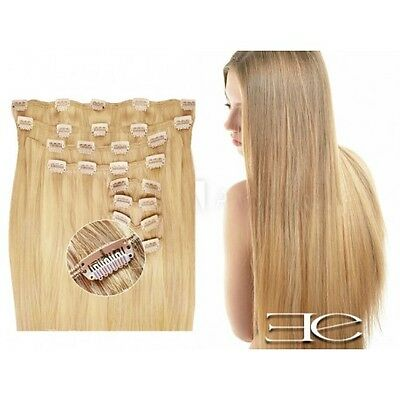 Kit extensions de cheveux à clips naturel blond 22 luxe 100% volume 180 Gr. 53 c