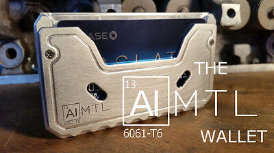 The ALMTL Wallet mens minimalist slim metal wallet RFID blocking MADE IN USA