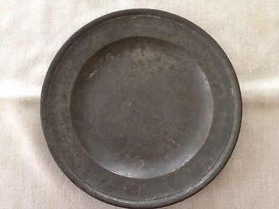 Antique pewter plate, English made