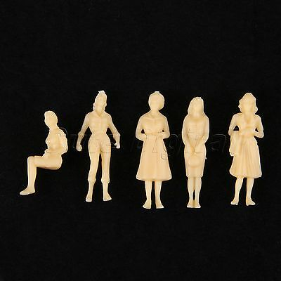 20pcs Model People Figures Model Skin Colored Building Layout Scenery Scale 1:50