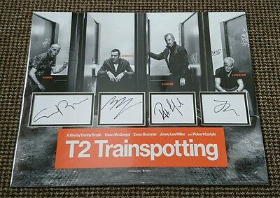 Trainspotting 2 signed cast 16x20 display McGregor Carlyle Lee Miller AFTAL