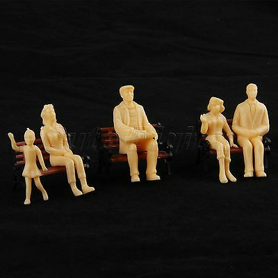 20x Model Train Diorama Layout Seated People Passanger Figure 1:25 Scale Plastic