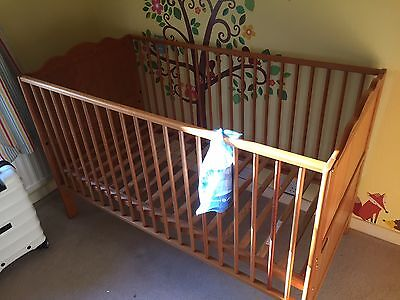 Mamas and Papas Cot Bed - Solid Pine