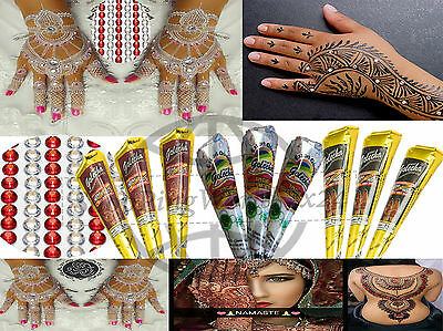 37 Tlg. Set Henna paste Henna Tattoo Kegel 3 SCHWARZ 3 WEISS 3 ROT 28 ModeCrysta
