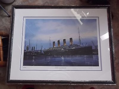 Print Titanic signed limited edition by Harley Crossley 92 of 850