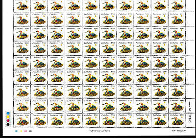 Zimbabwe 2003 Definitives $ 500 Bird Sheet of 100, MNH (R2 No 17903)