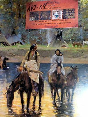 INDIANS at CAMP Days of Long Ago by SHARP Buffalo Bill Museum MAKE OFFER