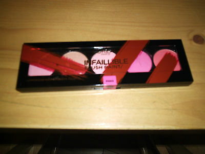 New Sealed L'Oreal Infallible Paint Blush Palette High Intensity Blusher Pinks
