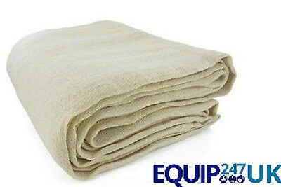2 (Two) Large Dust Sheets Heavy Duty Cotton Twill Diy Professional Dust Sheet