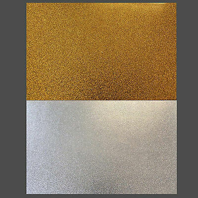 Large Glitter Gold or Silver sparkle Scratch plate pick guard Sheets (PG33)
