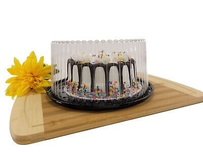 """8"""" Display Cake Containers for 1-2 layer Cakes. USA made-Great Quality- Free S&H"""