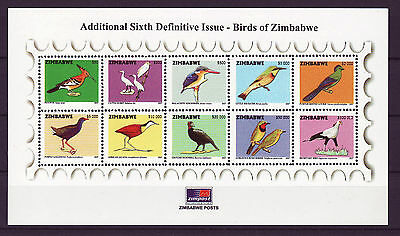 Zimbabwe 2007 Birds Definitives Mini-Sheet, MNH - rare!