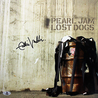 Eddie Vedder Pearl Jam Authentic Signed Lost Dogs Album Flat BAS #A02086