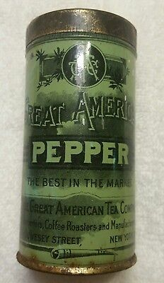 Vintage Great American Tea Company Pepper Tin