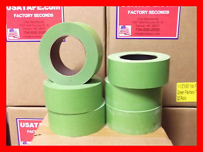 "24 Rolls 2""X 60 Green Painters Masking Tape QUICK SHIP. USA Made. BLEMS"