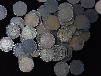 BIG CANADA LARGE CENT PENNY LOT - 1800s 1900s - 60 COINS - MIXED DATES