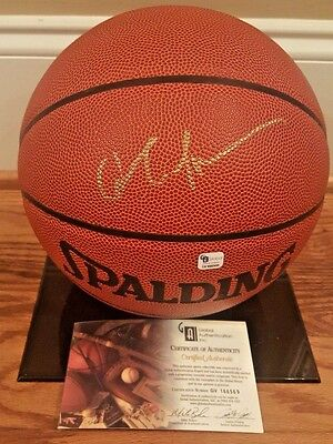 Allen Iverson Signed Autographed Spalding Georgetown 76ers Basketball GV166569
