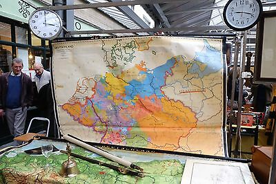 ENORMOUS ANTIQUE SCHOOL/ WALL MAP of GERMANY DEUTSCHLAND Hans Krabusch 1740-1801